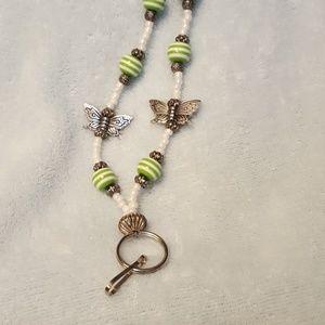 Jewelry - Butterfly ID or key lanyard